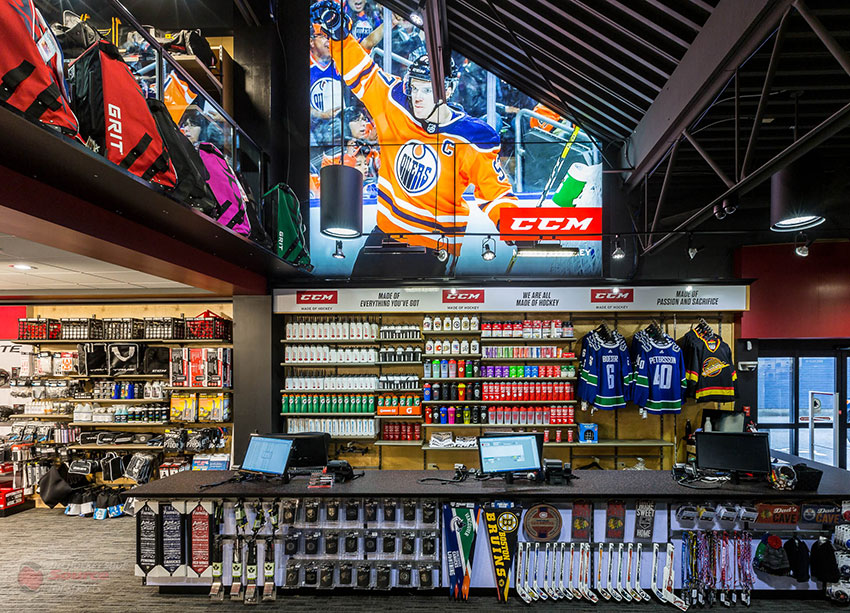 The Hockey Shop Source For Sports, Surrey, BC, is one of the premier hockey stores in Canada