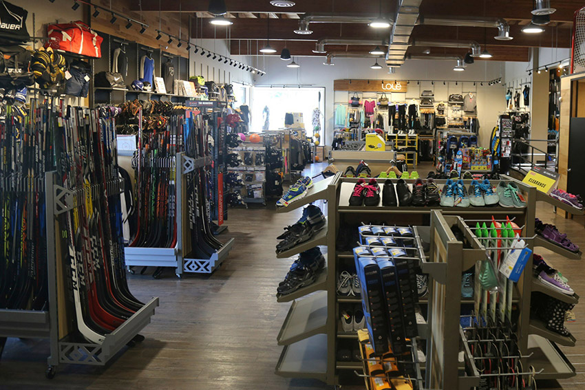 Trail Bay Source For Sports, Sechelt, BC, Sells Hockey Equipment and Gear Like Sticks, Skates, Bags, Protective & More