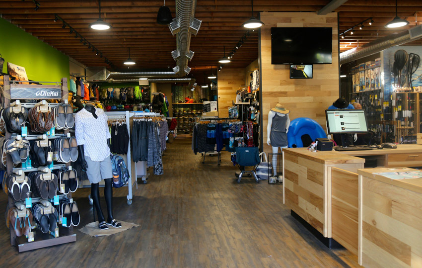 Trail Bay Source For Sports, Sechelt, BC, is one of the premier sporting goods and outdoor stores in Canada.