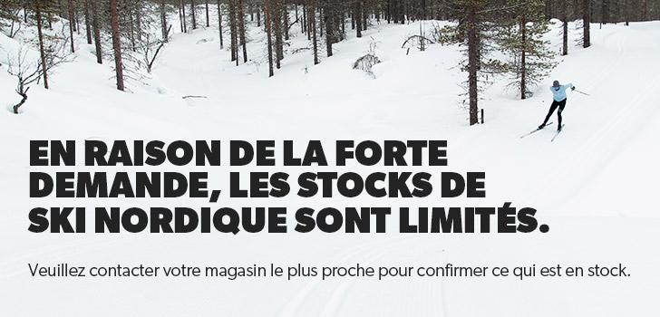 En raison de la forte demande, les stocks de ski nordique sont limités. Veuillez contacter votre magasin le plus proche pour confirmer ce qui est en stock.