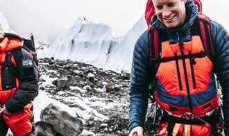 Men's Columbia Gear for a winter hike