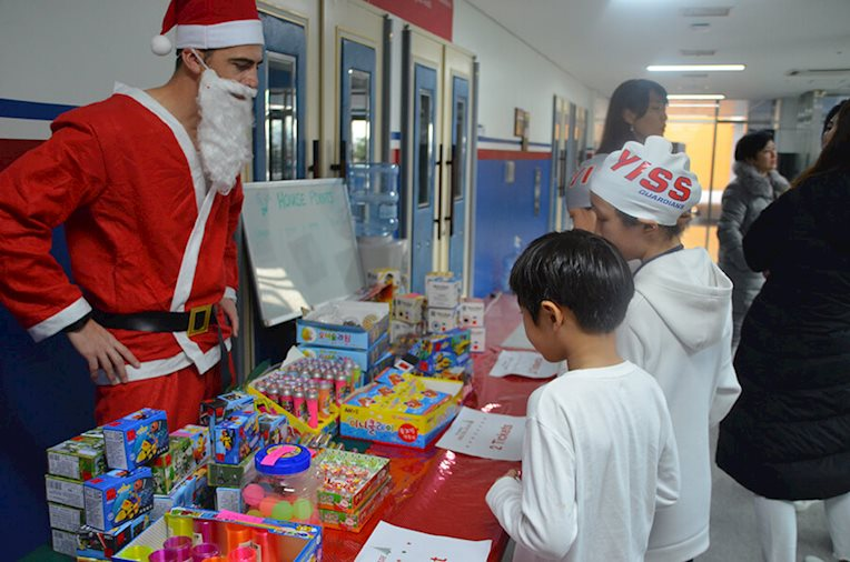 Santa at Jingle Bell Splash