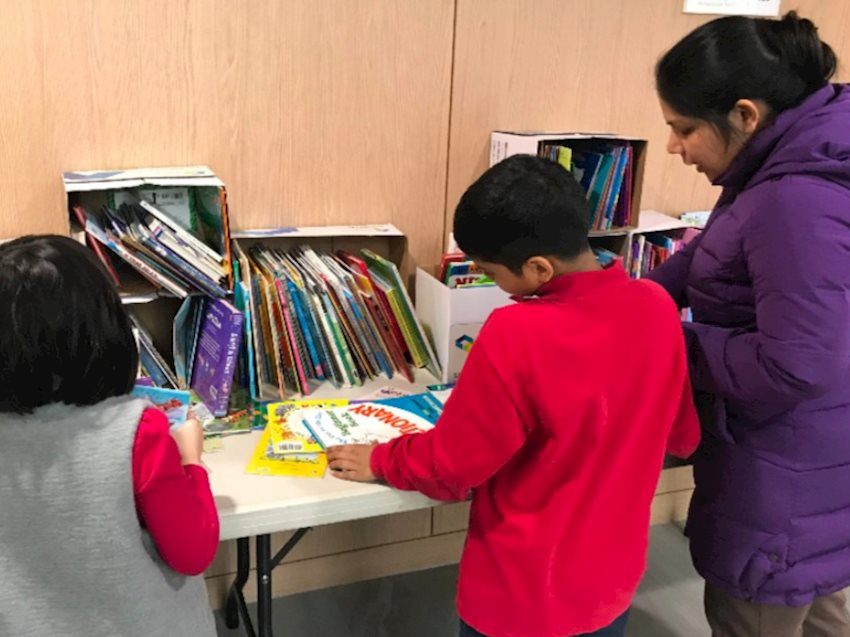 parent, kids, and books